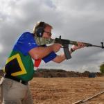Evert Kleynhans with his Remington R-15