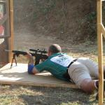 Paul Eksteen using his bipod.