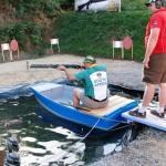 Paul Eksteen shooting buckshot on the pond.