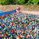 Jan in one of the many bins with shotshells.